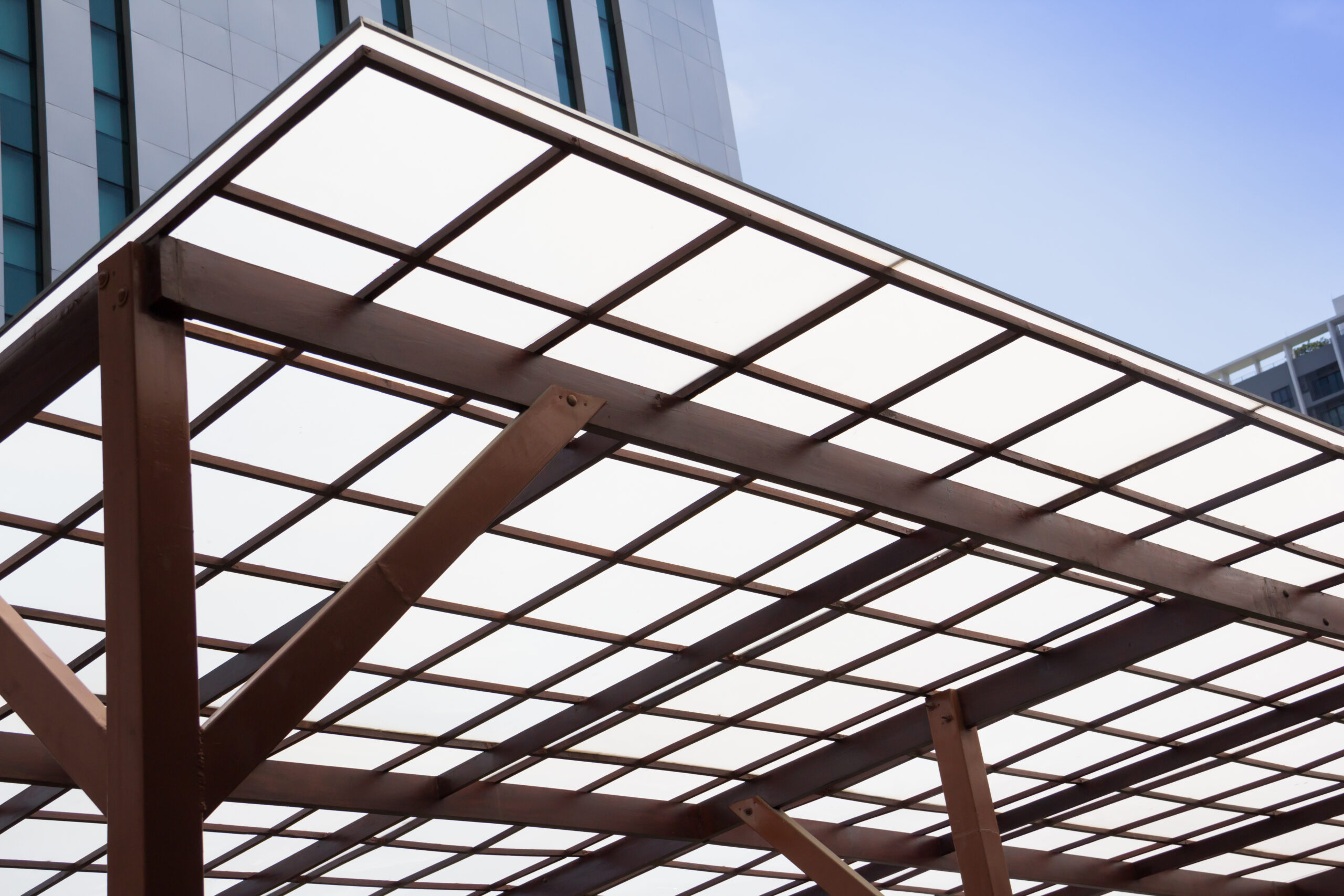 roof made with polycarbonate sheet