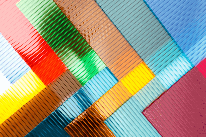 colorful polycarbonate materials